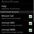 Missed Call Reminder