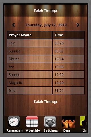 Ramadan 2012 App