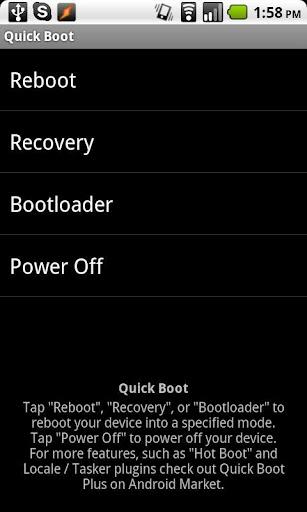 Quick Boot (Reboot)