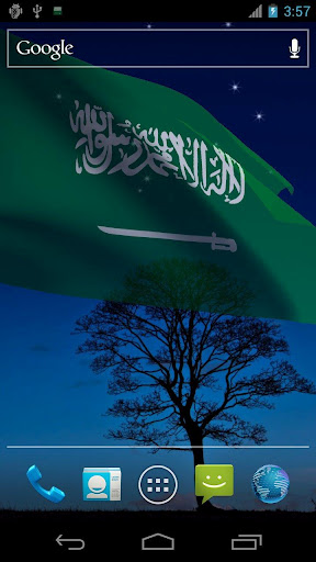3D Saudi Flag LWP
