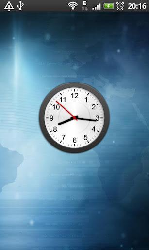 Animated Analog Clock Widget