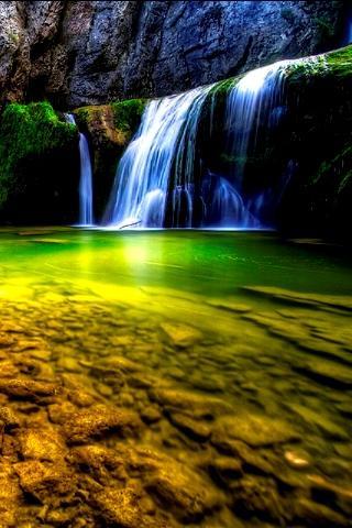 hd waterfall 3d live wallpaper
