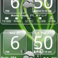Sense Analog Glass Clock 4×2