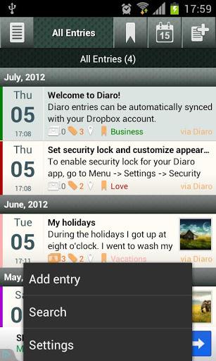 Diaro – Diary Writing