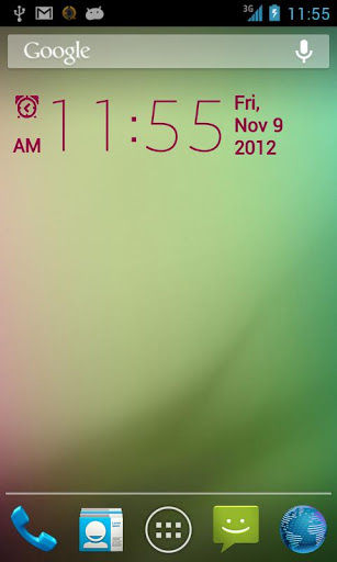 Simple Digital Clock Widget