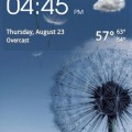 Transparent Clock & Weather