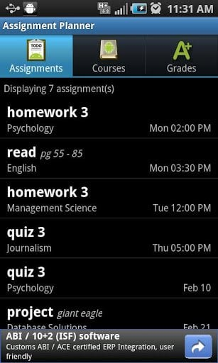 Assignment Planner FREE