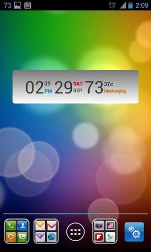 Battery Clock Calendar