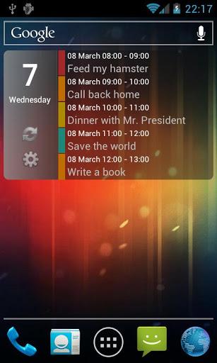 Clean Calendar Widget