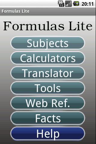 Formulas Lite