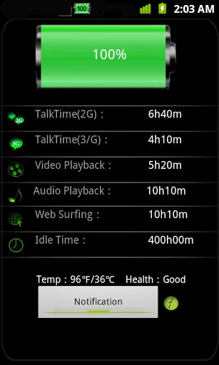 Battery notification & widget
