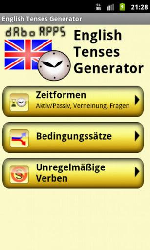 English Tenses Generator