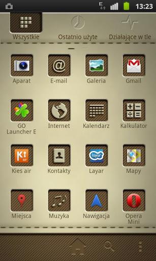 Leathery GO Launcher EX Theme-2
