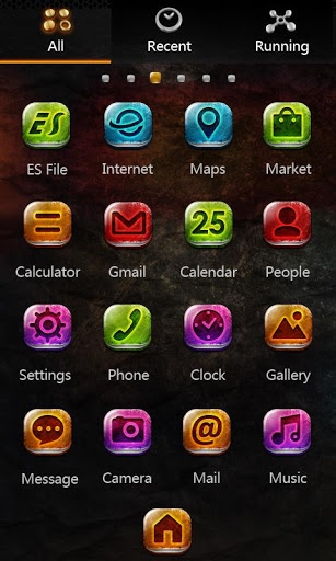 Metal GO LauncherEX Theme-2