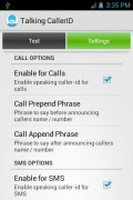 Talking Caller ID Calls & SMS