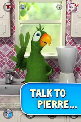 Talking Pierre the Parrot Free