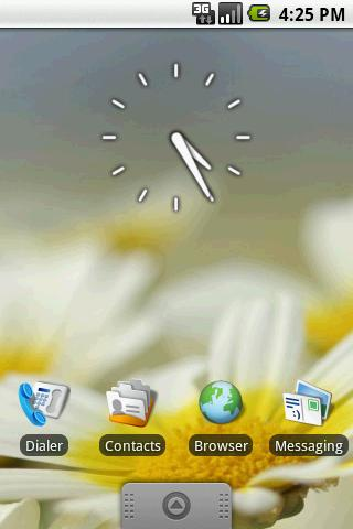 Transparent Clock Widget 2×2
