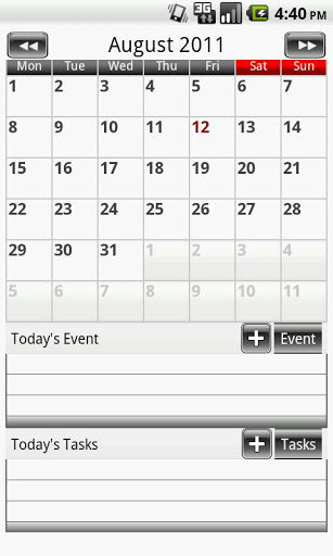 Calendar One – Simple Calendar