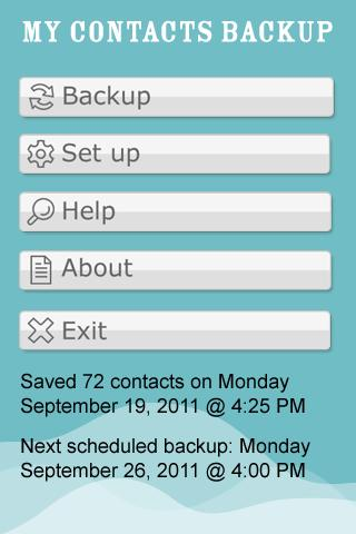 My Contacts Backup