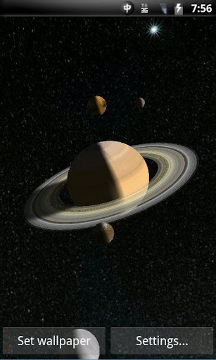 Solar System 3D Live Wallpaper Lite