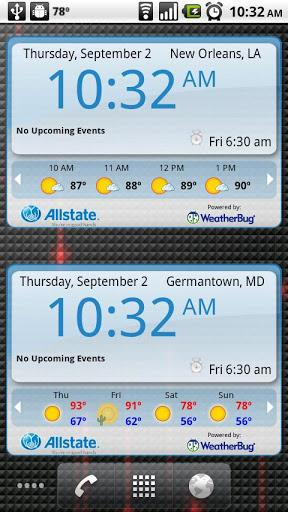 WeatherBug Time &#038; Temp Widget
