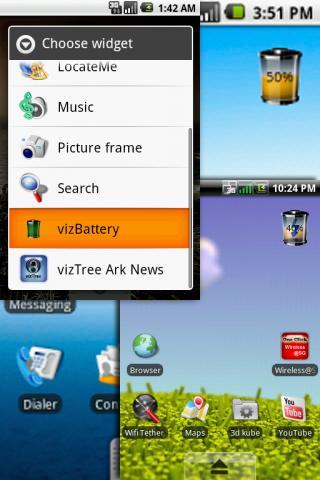 vizBattery Widget
