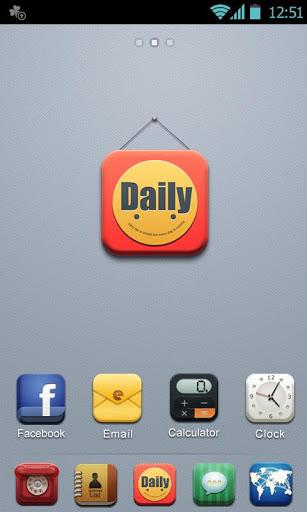 D-Daily GOLauncher EX Theme