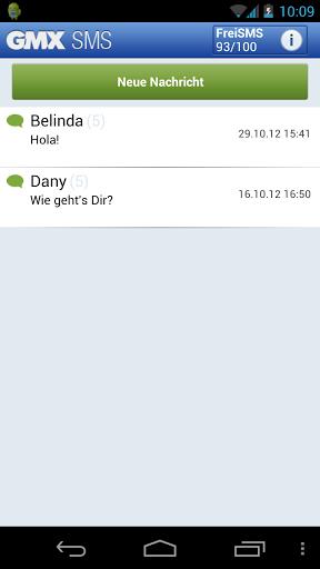 GMX SMS mit Free Message