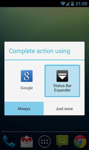 Status Bar Expander