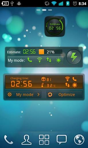 Black Theme GO Power Battery