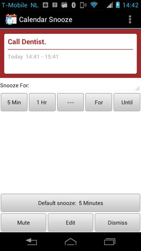 Calendar Snooze