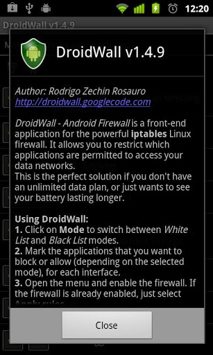 DroidWall - Android Firewall-2