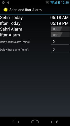 Sehri and Iftar Alarm-1