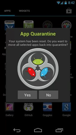 App Quarantine ROOT - FREEZE-2