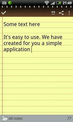 Notepad for Android-2
