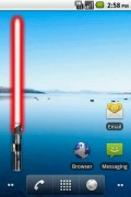 Battery Widget Lightsaber