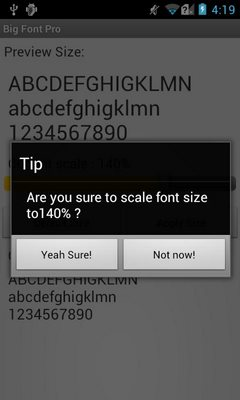 Big Font Pro - change font size-2