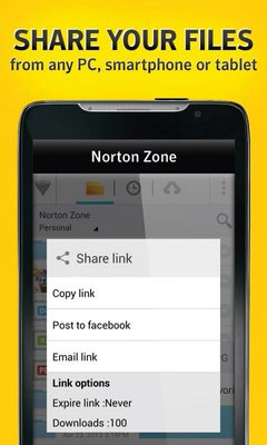 Norton Zone cloud sharing-2
