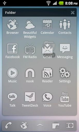 Sense Glass ADW Theme-2