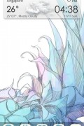 Sharp Blue – GO Launcher Theme