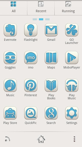 Sharp Blue - GO Launcher Theme-2