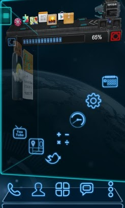 Future Next Launcher 3D Theme-1
