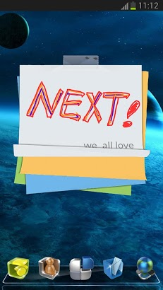 Next Launcher 3D Note Widget-2