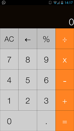 iOS7 Calculator