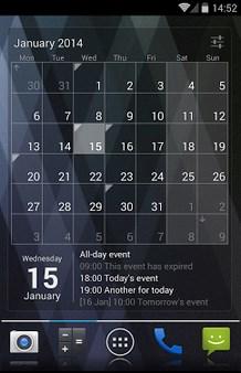 Calendar Widget - Month+Agenda-1