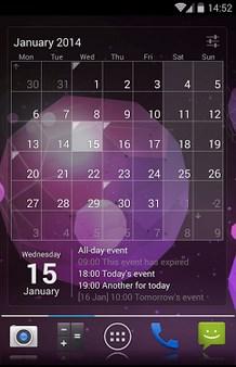 Calendar Widget – Month+Agenda