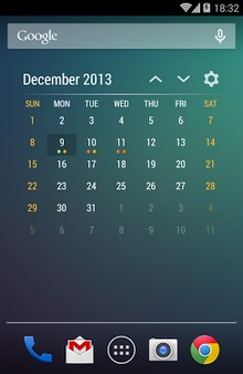 Event Flow Calendar Widget-1