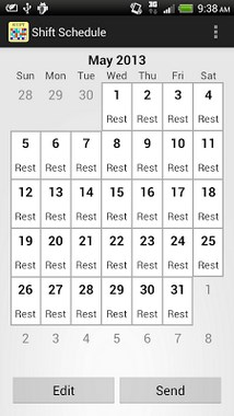 Shift Calendar - Schedule-1