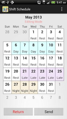Shift Calendar - Schedule-2