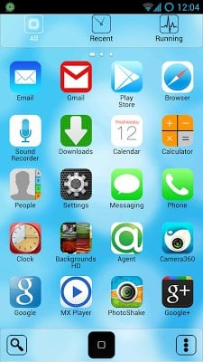 iOS 7 Go Launcher Theme